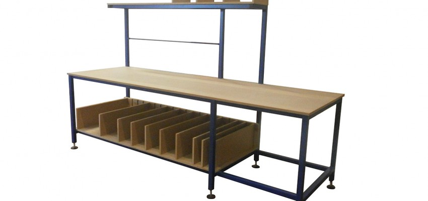Large bespoke packing table