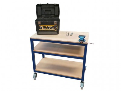mobile plywood top workstation