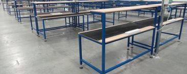 Electrical repair benches with ESD mat and socket outlets
