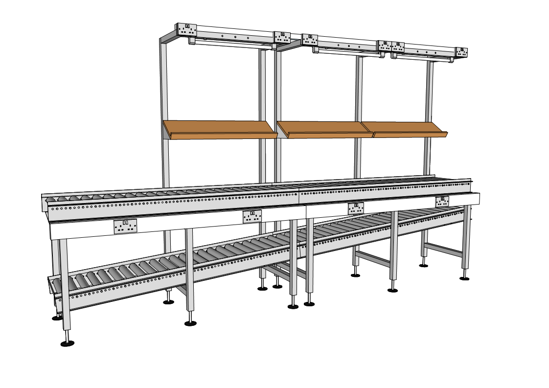 Gravity Roller Conveyors Packing Tables By Spaceguard