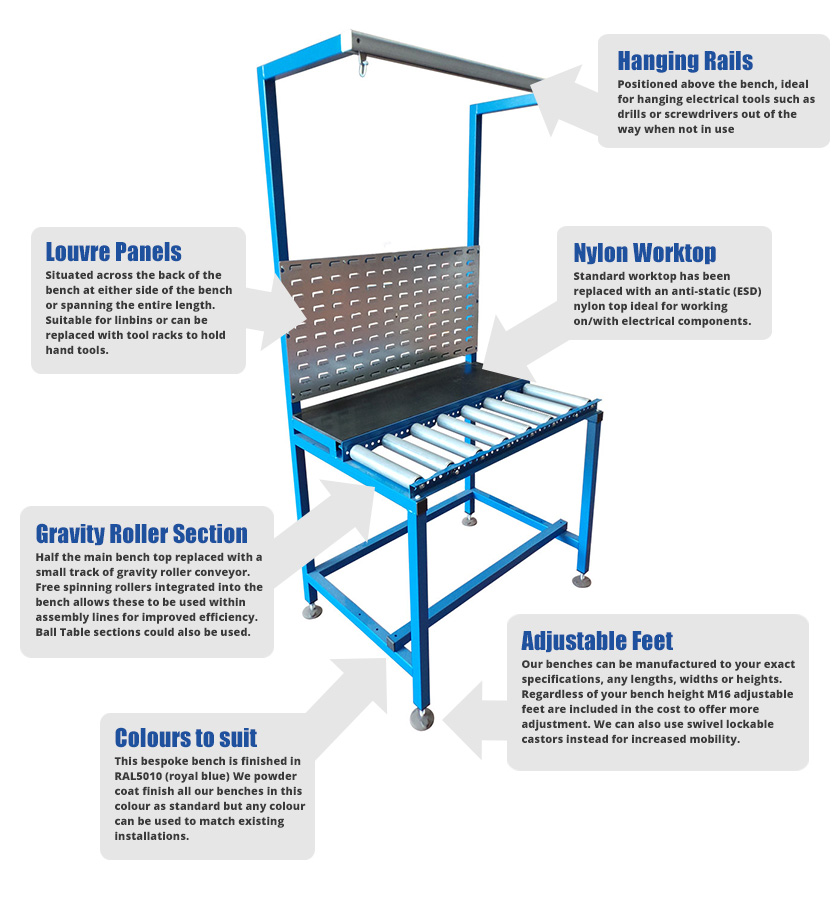 Bespoke-electrical assembly-bench