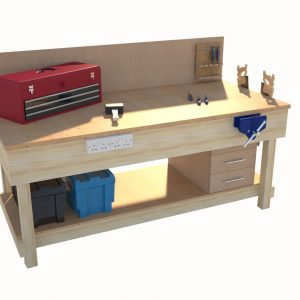 Wooden Workbench – L2000 x W900