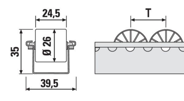 Mini roller track dimensions