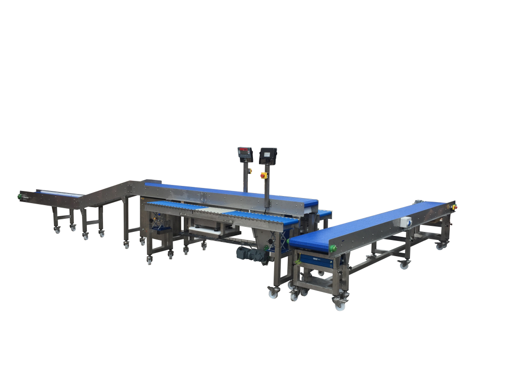 Conveyor packing workstations complete with Integral weighing