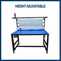 height adjustable packing bench
