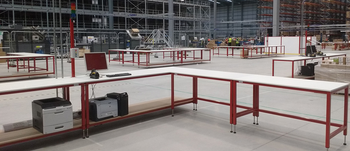 Warehouse Packing Bench Packing Tables By Spaceguard