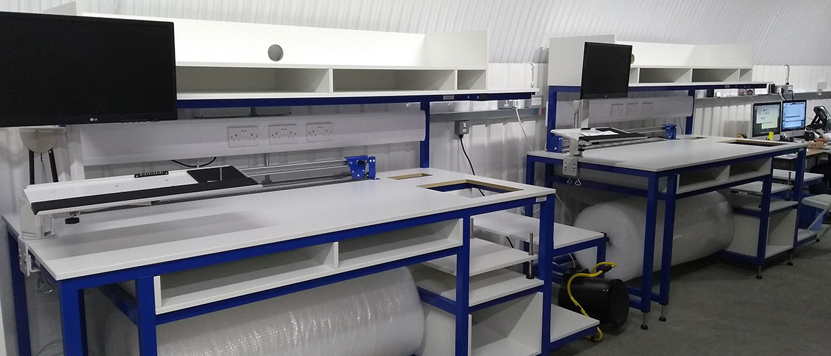 bespoke packing benches - 1180