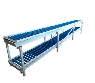2 tier gravity roller conveyor
