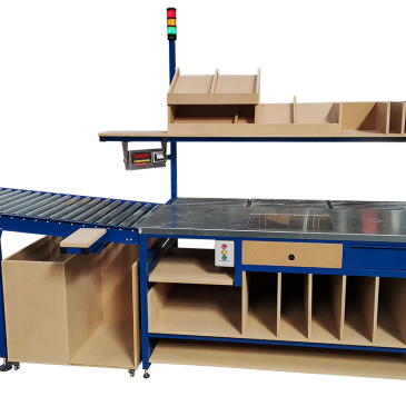 Infeed Gravity Roller Packing Bench