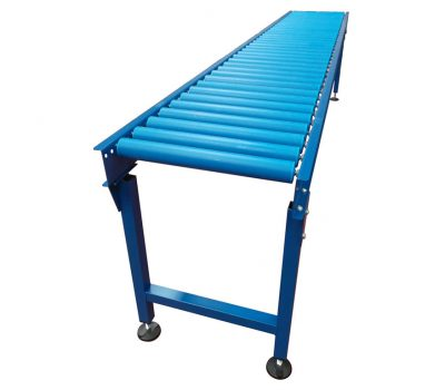 Gravity roller conveyor with PVC Rollers