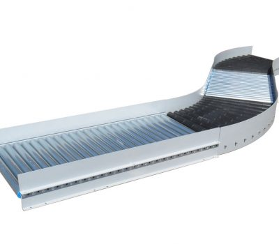Gravity conveyor with bends