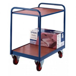 Industrial 2 plywood Tray Trolley