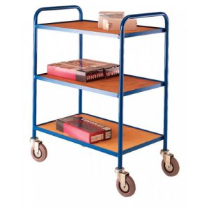 Medium Duty Tray Trolley with 3 trays